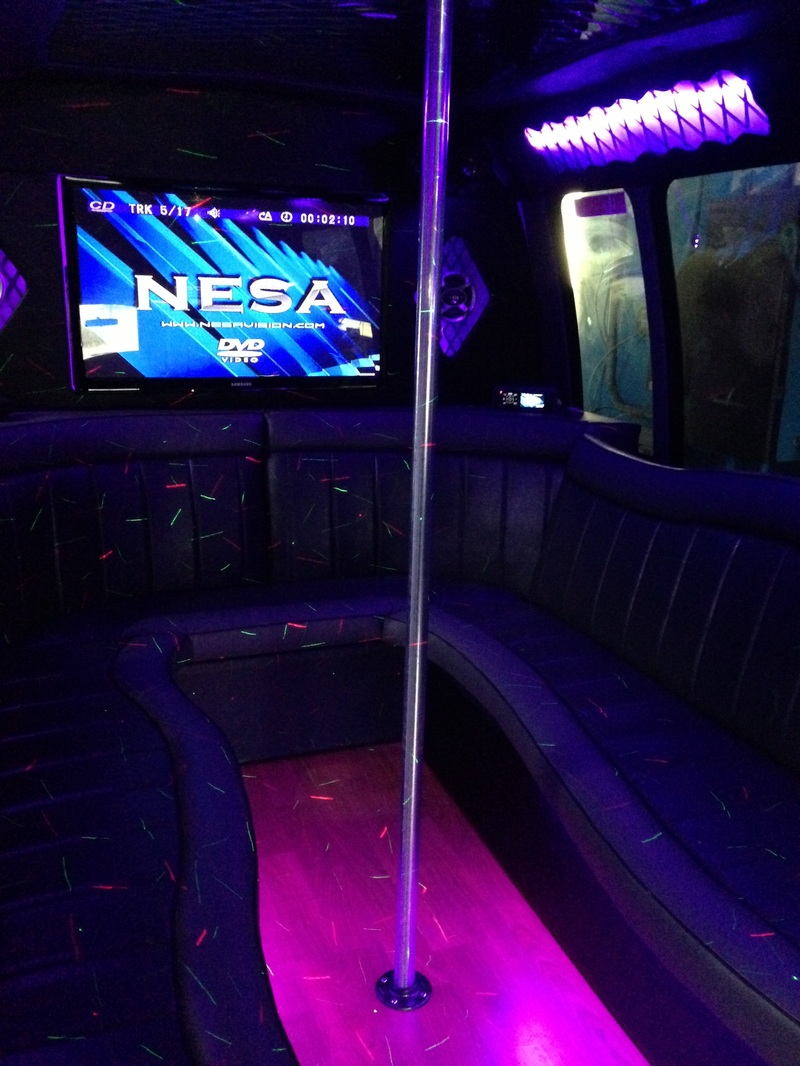 Alpharetta Party Bus Interior